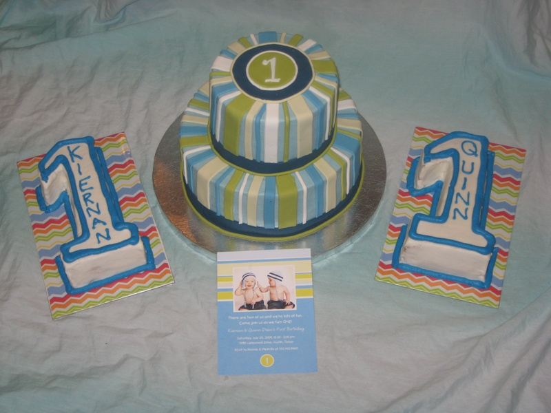Cake Ideas For 1st Birthday Twins : Twins 1st Birthday Cake - Shimmy Shimmy Cake!