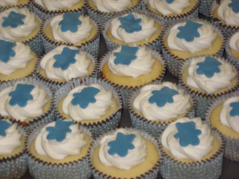 Baby Blue Bear Cupcakes