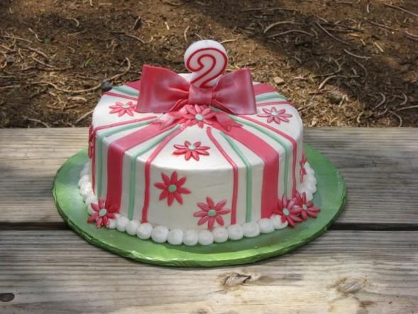 Cake Designs For Second Birthday : 2nd Birthday Cake - Shimmy Shimmy Cake!
