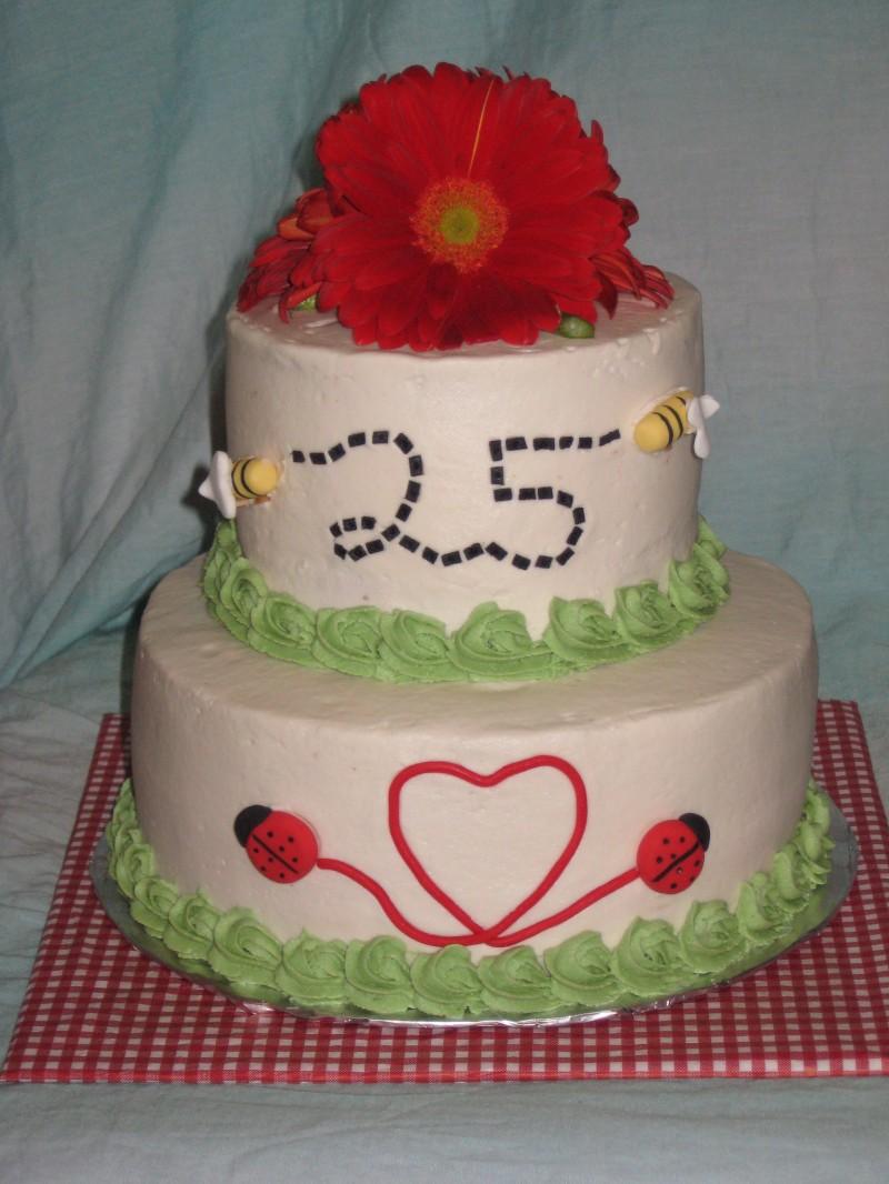 25th Wedding Anniversary Picnic Cake Shimmy Shimmy Cake