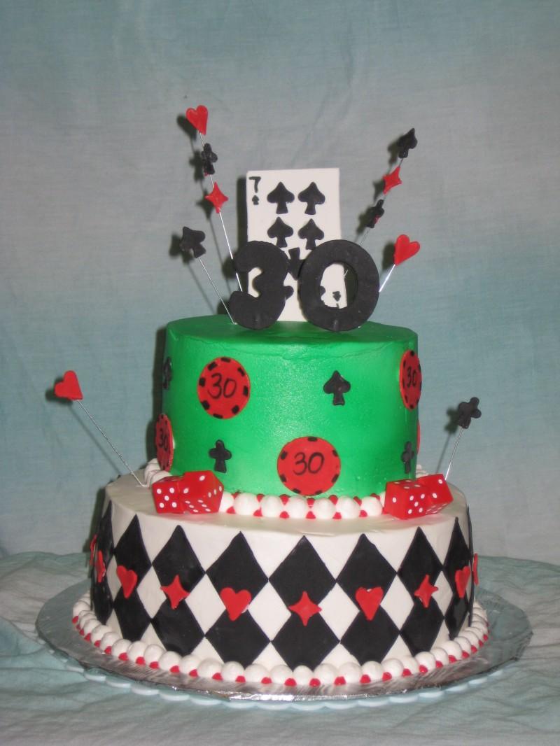 Gambling Birthday Cakes