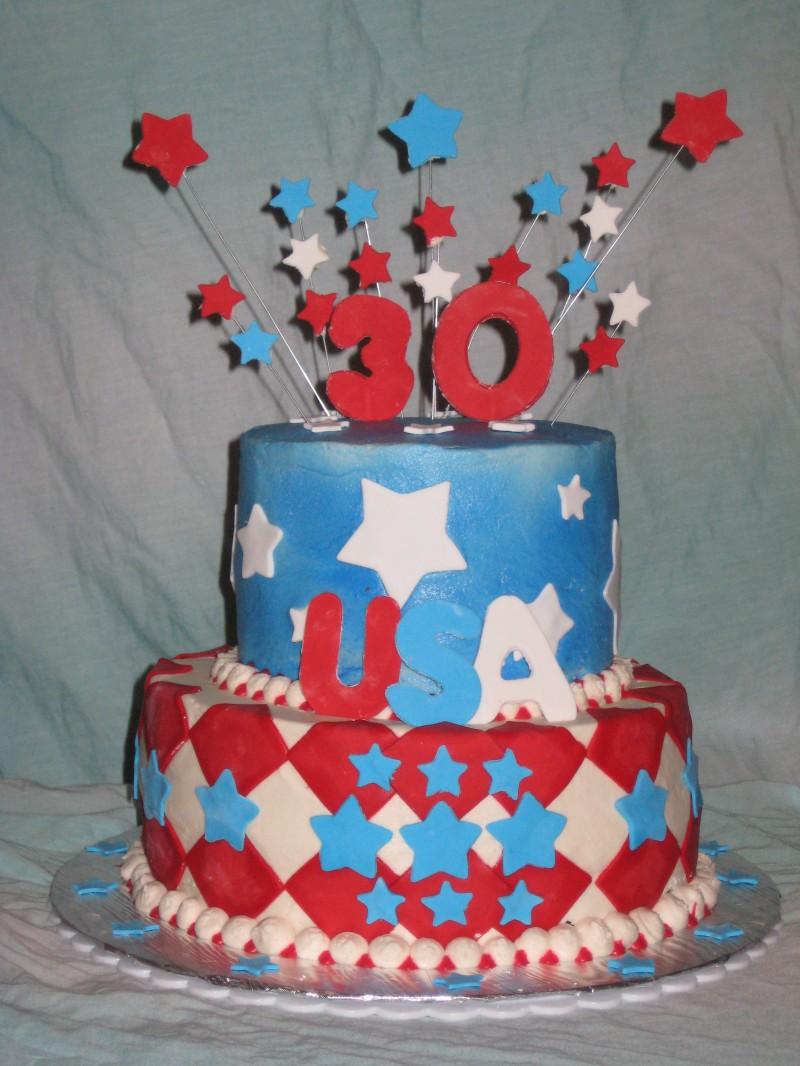 Groovy Patriotic Birthday Cake Shimmy Shimmy Cake Funny Birthday Cards Online Fluifree Goldxyz