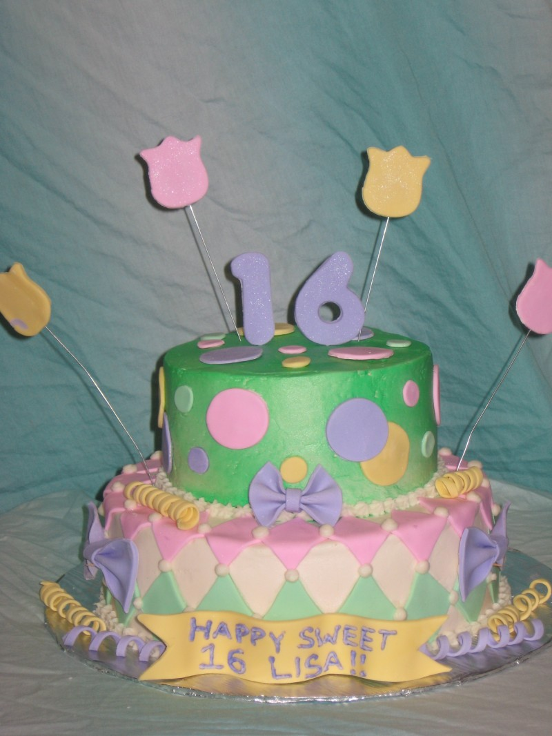 Sweet 16 Whimsy Cake