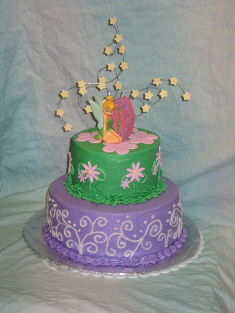 Permalink to Tinkerbell Birthday Cake