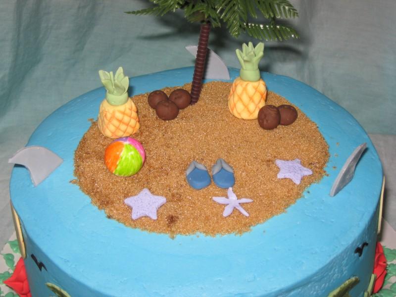 Island Birthday Cake