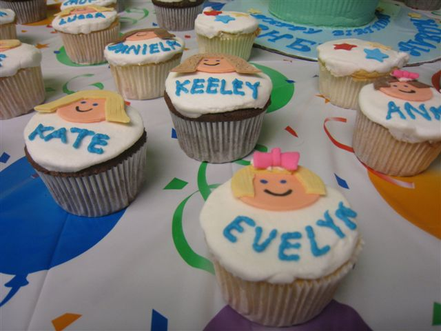 Personalized Face Cupcakes