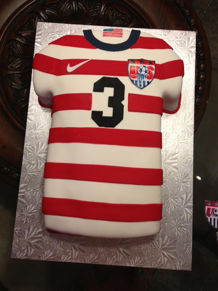 USA Soccer jersey Grooms Cake