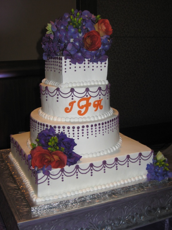 Mixed Shapes Wedding Cake